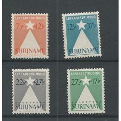 Suriname LP29-30 en 247-248 LEPRA-bestrijding MNH/postfris CV 20€
