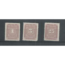 Suriname P33-35 Port 1945 MNH/postfris CV 24 €