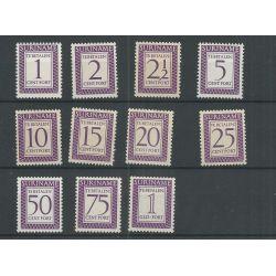 Suriname P47-57 Port 1956 MNH/postfris CV 19 €