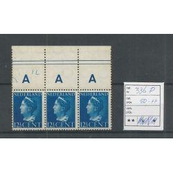 """Nederland 336P """"GENT"""" in strip van 3 MNH/postfris CV 50+ €"""