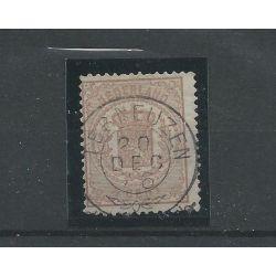 """Nederland 13 met """"TER NEUZEN 1876"""" franco-takje VFU/gebr CV 40 €"""
