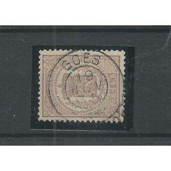 """Nederland 13 met """"GOES 1875"""" franco-takje VFU/gebr CV 12 €"""