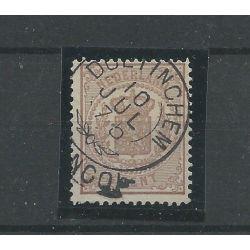 """Nederland 13 met """"DOETINCHEM 1875"""" franco-takje VFU/gebr CV 12 €"""