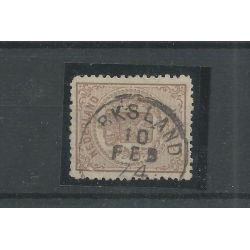 "Nederland 13 met ""DIRKSLAND 1874"" franco-takje VFU/gebr CV 80 €"