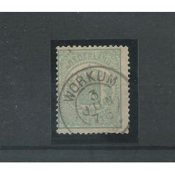 "Nederland 15 met ""WORKUM 1876"" franco-takje VFU/gebr CV 60 €"