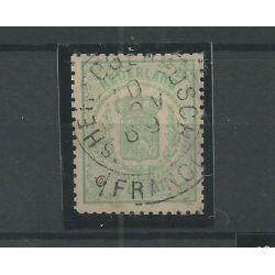 "Nederland 15 met ""HERTOGENBOSCH 1869"" franco-takje VFU/gebr CV 12 €"