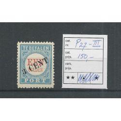 Nederland P27-III Port 1906 MNH/postfris CV 150 €