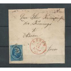 Nederland 5 op brief RODEN 1865 naar ASSEN VFU/gebr CV 50++ €