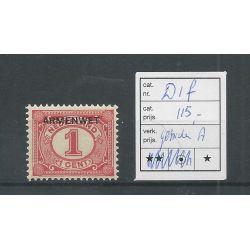 """Nederland D1f Port """"Gebroken A"""" MH/ongebr CV 115 €"""