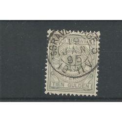 """Nederland PW7 met """"s'GRAVENHAGE-5 1895"""" kleinrond VFU/gebr CV 55+ €"""