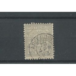 """Nederland PW7 met """"APELDOORN 1893"""" kleinrond VFU/gebr CV 45+ €"""