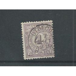 """Nederland PW5 met """"UTRECHT 1898"""" kleinrond VFU/gebr CV 175+ €"""