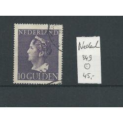 Nederland 349 Konijnenburg 10Gld VFU/gebr CV 45 €