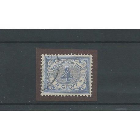 Ned. INDIE 45 cijfer 4ct blauw LUXE VFU/gebr CV 10 €