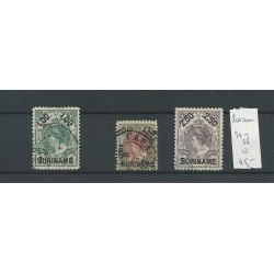 Suriname 34-36 prachtig VFU/gebr CV 45 €