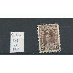 Suriname 122 Wilhelmina Prachtig VFU/gebr CV 23,5 €