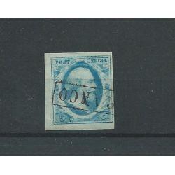 Nederland 1 5ct Willem III 1852 Luxe gebr CV 50 € (1)