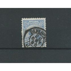 "Nederland 35 met ""BEVERWIJK 1896"" kleinrond VFU/gebr CV 3 €"