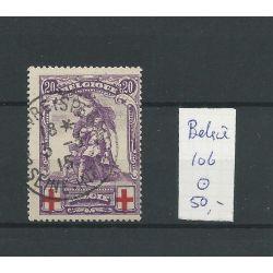 Belgie 106 Rode Kruis VFU/gebr CV 50 €