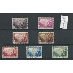 Belgie 347-353 Tuberculose 1932 VFU/gebr CV 130 €