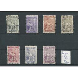 Belgie 366-372 Tuberculose 1933 VFU/gebr CV 180 €