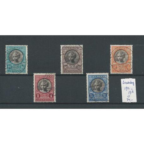Luxemburg 192-196 Kinderhilfe 1927 VFU/gebr CV 34 €