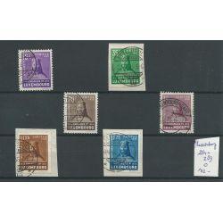 Luxemburg 284-289 Kinderhilfe/Charitas 1935 VFU/gebr CV 140 €