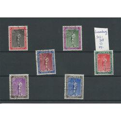 Luxemburg 303-308 Chartas VFU/gebr CV 50 €