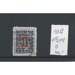 Nederland 133A 11,5x11 Opruimingsuitgifte VFU/gebr CV 40 €