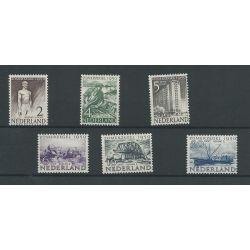 Nederland 550-555 Zomer 1950  MNH/postfris   CV 52 €