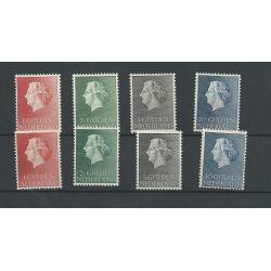 Nederland 637-640 Juliana hoge waardes 2x  MNH/postfris   CV 50 €