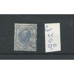 Curacao 4C Willem III 1873 10ct LUXE VFU/gebr CV 27,5 €