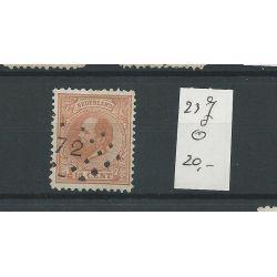 Nederland 23J Willem III 1872 VFU/gebr CV 20 €
