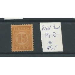 Ned. Indië P3D port 15ct MH/ongebr CV 85 €