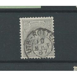 "Nederland 22 met ""'UTR:-ROTTERD: 1887"" kleinrond CV 12 €"