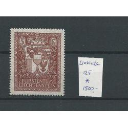 Liechtenstein 125 VADUZ Exhibition-stamp 1934 MH/ongebr CV 1500 €