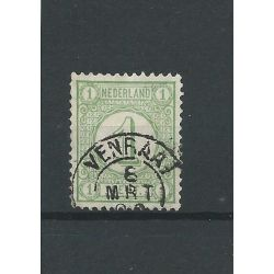 "Nederland 31 ""VENRAAI 1896"" kleinrond VFU/gebr CV 5 €"