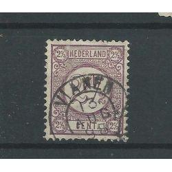 """Nederland 33 """"VIANEN 1898 """" kleinrond VFU/gebr CV 5 €"""