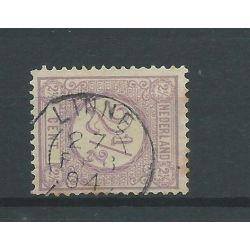 "Nederland 33 ""LINNE 1894 "" kleinrond VFU/gebr CV 25 €"