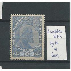 Liechtenstein 3ya Fürst Johan 25H MH/ongebr CV 600 €
