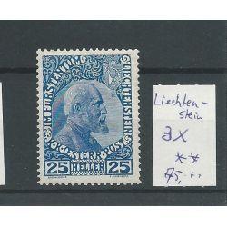 Liechtenstein 3x Fürst Johan 25 Heller MH/ongebr CV 75 €