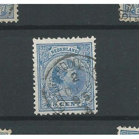 "Nederland 35 met ""GRONING:-ROODESCHOOL-A 1895"" VFU/gebr CV 85 €"