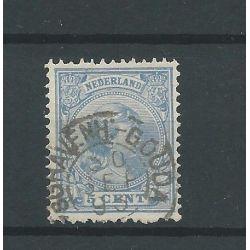 "Nederland 35 met "" s'GRAVENH:-GOUDA 1893"" VFU/gebr CV 33 €"