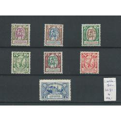 Liechtenstein 65-71 Freimarke 1925/27 MH/ongebr CV 440 €