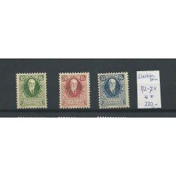 Liechtenstein 72-74 Geburtstag des Fürsten MNH/postfris CV 220 €