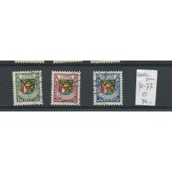 Liechtenstein 75-77 Geburtstag des Fürsten 1927 VFU/gebr CV 70 €