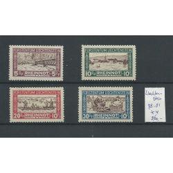 Liechtenstein 78-81 RHEINNOT 1928 MNH/postfris CV 260 €