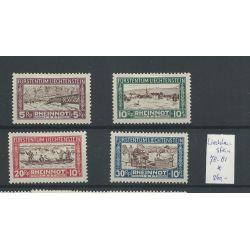 Liechtenstein 78-81 RHEINNOT 1928 MH/ongebr CV 260 €