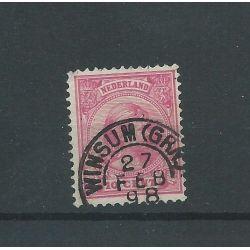 "Nederland 37 met ""WINSUM (GRN:) 1898 "" VFU/gebr CV 7 €"