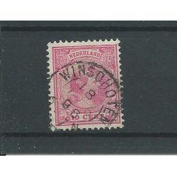 """Nederland 37 met """"WINSSCHOTEN 1896 """"  VFU/gebr  CV 7 €"""